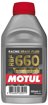 Motul RBF 660 1/2L Brake Fluid DOT 4