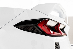 Tail light side marker overlay for C8 Corvette